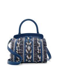 Sam Edelman - Blue Bobbi Leather Micro Top Handle Bag - Lyst