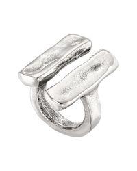Uno De 50 | Metallic Unblocked Parallel Bar Pendant Open Ring | Lyst