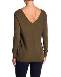 NYDJ Multicolor V-neck Long Sleeve Knit Sweater
