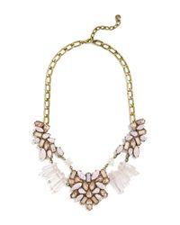 BaubleBar   Metallic Lyla Rose Quartz Stone Statement Necklace   Lyst