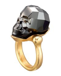 Uno De 50 - Gray Mc Glamer Faceted Swarovski Crystal Accented Skull Ring - Lyst