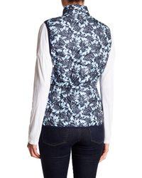 Joe Fresh   Blue Floral Quilted Vest   Lyst
