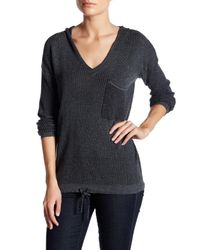 Democracy   Multicolor V-neck Knit Hooded Sweater   Lyst