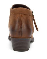 White Mountain Footwear Brown Dandy Ankle Bootie