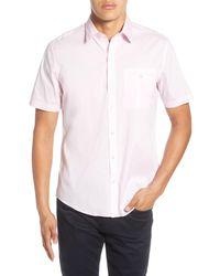 Zachary Prell Pink Baumann Regular Fit Shirt for men