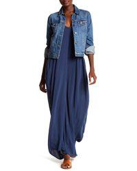 Love Stitch Blue Gauze Maxi Dress