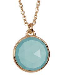 Melinda Maria - Metallic Round Aqua Onyx Pendant Necklace - Lyst