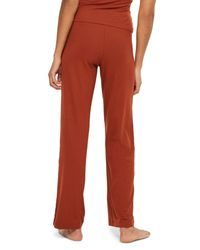 TOPSHOP - Red Ribbed Pajama Pants - Lyst