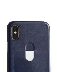 Bellroy Blue Single Card Iphone X Case for men