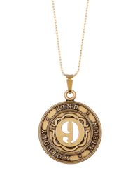 ALEX AND ANI - Metallic Numerology Number 9 Charm Adjustable Necklace - Lyst