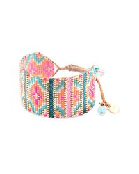 Mishky - Pink Yeyi Beaded Cuff Bracelet - Lyst
