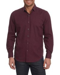 Robert Graham - Purple Colin Tailored Fit Sport Shirt for Men - Lyst