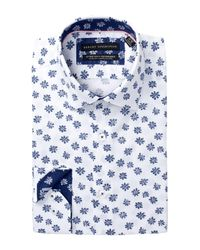 Report Collection Blue Oxford Slim Fit Dress Shirt for men