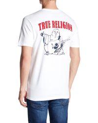 True Religion - White Big Buddha Logo Tee for Men - Lyst