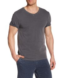 Threads For Thought - Gray Short Sleeve Pigment Dyed V-neck Tee for Men - Lyst