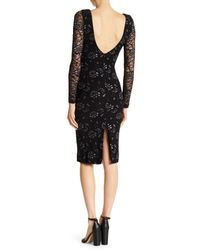 Dress the Population Black Emery Metallic Embroidered Dress
