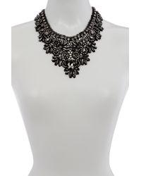 ABS By Allen Schwartz - Multicolor Stone Embellished Lace Bib Necklace - Lyst