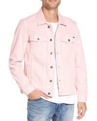 Barney Cools - Pink B.rigid Denim Jacket for Men - Lyst