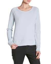 James Perse Blue Classic Long Sleeve Raglan Sweatshirt