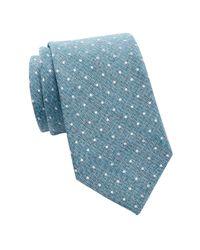 Tommy Hilfiger - Blue Village Dot Silk Tie for Men - Lyst