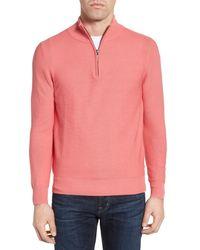 Jeremy Argyle Nyc - Pink Quarter Zip Sweater for Men - Lyst