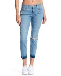 Siwy Blue Long Skinny Leg Jeans W/ Distressed Detailing