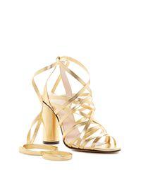 Jill Stuart - Metallic Michelle Ankle Wrap Sandal - Lyst