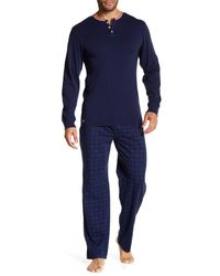 Lacoste - Blue Long Sleeve Lounge Boxed Set for Men - Lyst