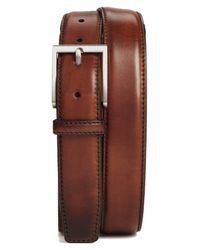 Magnanni Shoes Brown Catania Leather Belt for men