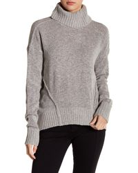 Romeo and Juliet Couture Gray Cozy Turtleneck Sweater