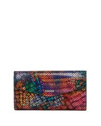 Lodis - Multicolor Elche Printed Leather Clutch - Lyst