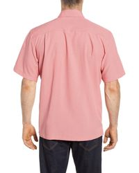 Quiksilver Pink Cane Island Classic Fit Camp Shirt for men