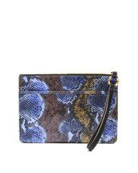 Aimee Kestenberg - Blue Odessa Leather Clutch - Lyst