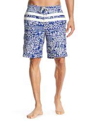 Tommy Bahama - Blue Baja Palm Gardens Micro Twill Cargo Swim Trunks for Men - Lyst