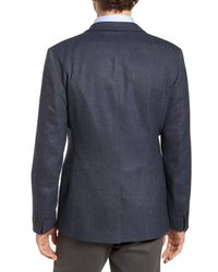 Ted Baker - Blue Burke Semi Plain Trim Fit Jacket for Men - Lyst