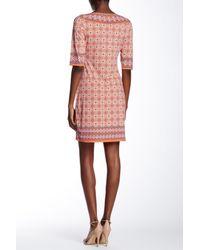 Max Studio Pink Printed Shift Dress