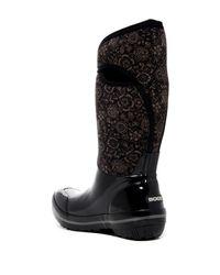 Bogs - Black Plimsoll Quilted Waterproof Rain Boot - Lyst