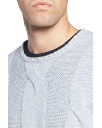 Zachary Prell - Gray Wool & Cashmere Sweater for Men - Lyst