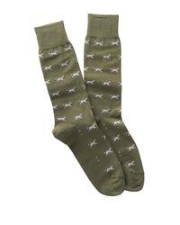 Peter Millar Green Patterned Socks for men