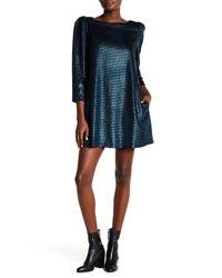 Free People - Blue Diamonds Are Forever 3/4 Sleeve Metallic Dress - Lyst
