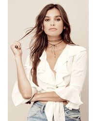 Vanessa Mooney | Black Vista Bolo Wrap Necklace | Lyst