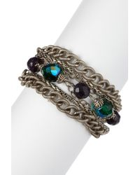 Sorrelli | Metallic Emerald City Multi-strand Crystal Bead Bracelet | Lyst