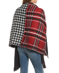 Treasure & Bond - Red Remix Brushed Plaid Wrap - Lyst