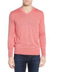 Jeremy Argyle Nyc - Pink V-neck Sweater for Men - Lyst