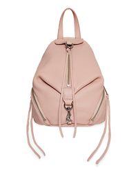 Rebecca Minkoff Multicolor Convertible Leather Mini Julian Backpack