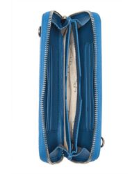 Sorial Blue Rubina Leather Chain Wallet Bag