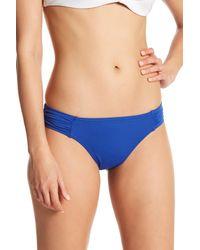 Tommy Bahama Blue Side Shirred Hipster Bikini Bottoms