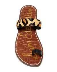 Sam Edelman Multicolor Gabi Genuine Calf Fur Sandal