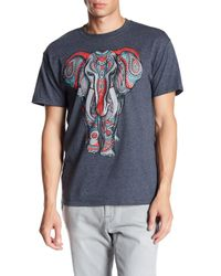 Jerry Leigh Black Paisley Elephant Tee for men