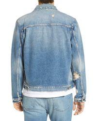 FRAME - Blue L'homme Denim Jacket for Men - Lyst